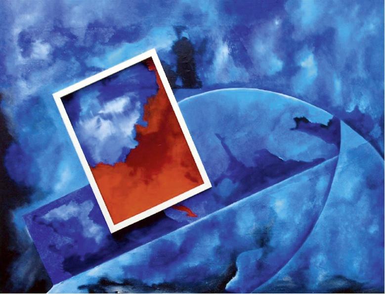 Brey Erich 01 Bild Im Bild Acryl Collage Auf Leinwand 120