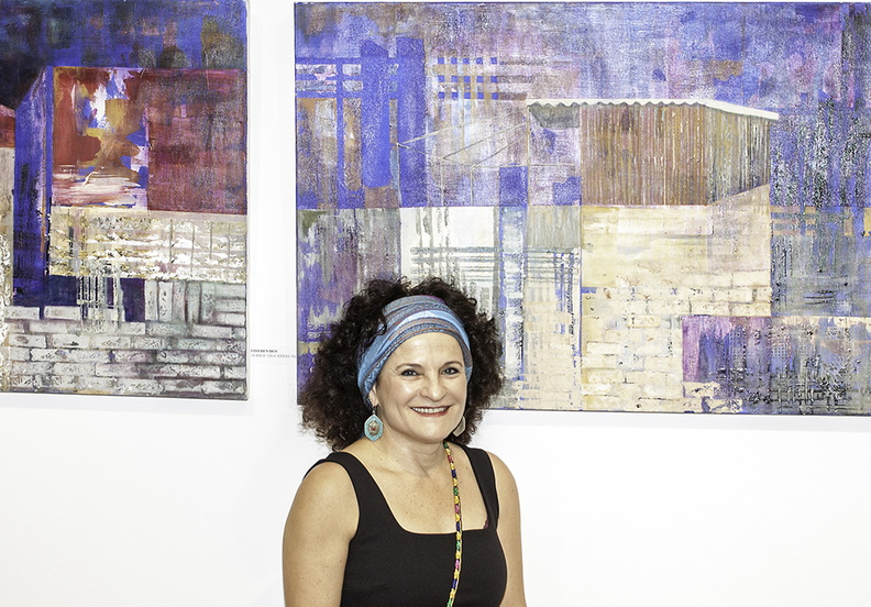 Liri Ben Dov and her paintings.jpg